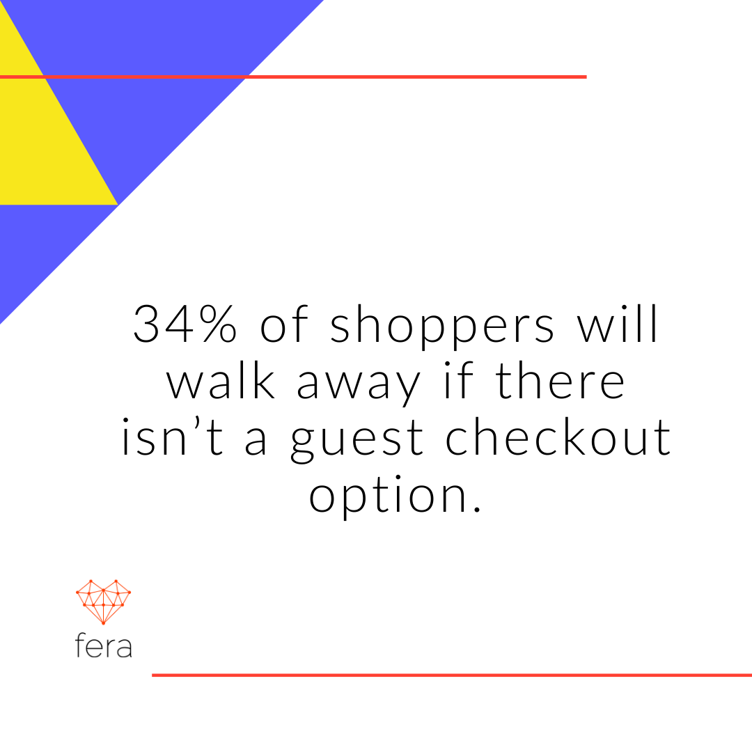 34 Of Shoppers Will Walk Away If There Isn't A Guest Checkout Option