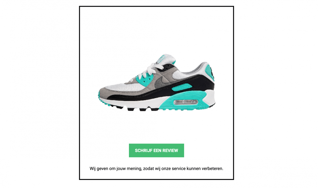 Product Photo Review Email Marketing Sneaker 1100x650