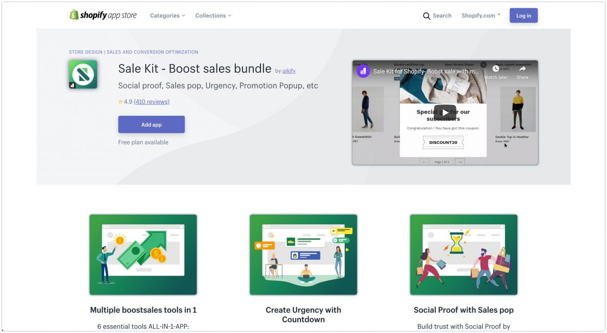 Sale Kit ‑ Ecommerce Plugins For Online Stores – Shopify App Store 2020 1184x650