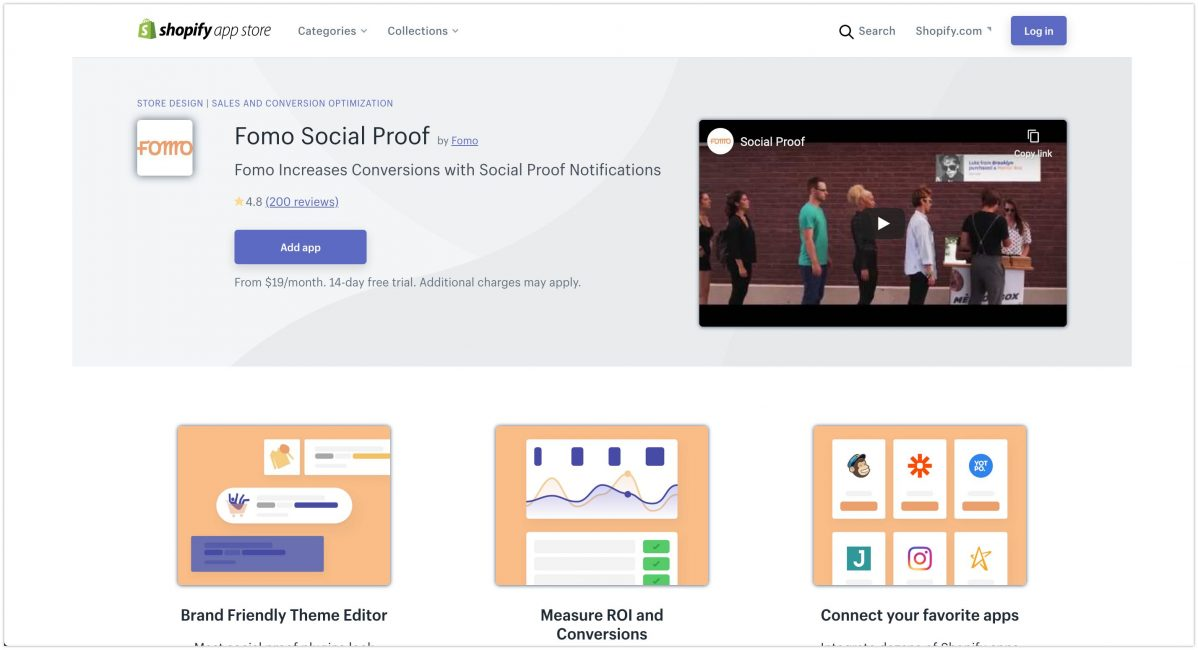 Fomo Social Proof – Ecommerce Plugins For Online Stores – Shopify App Store 2020 1198x650