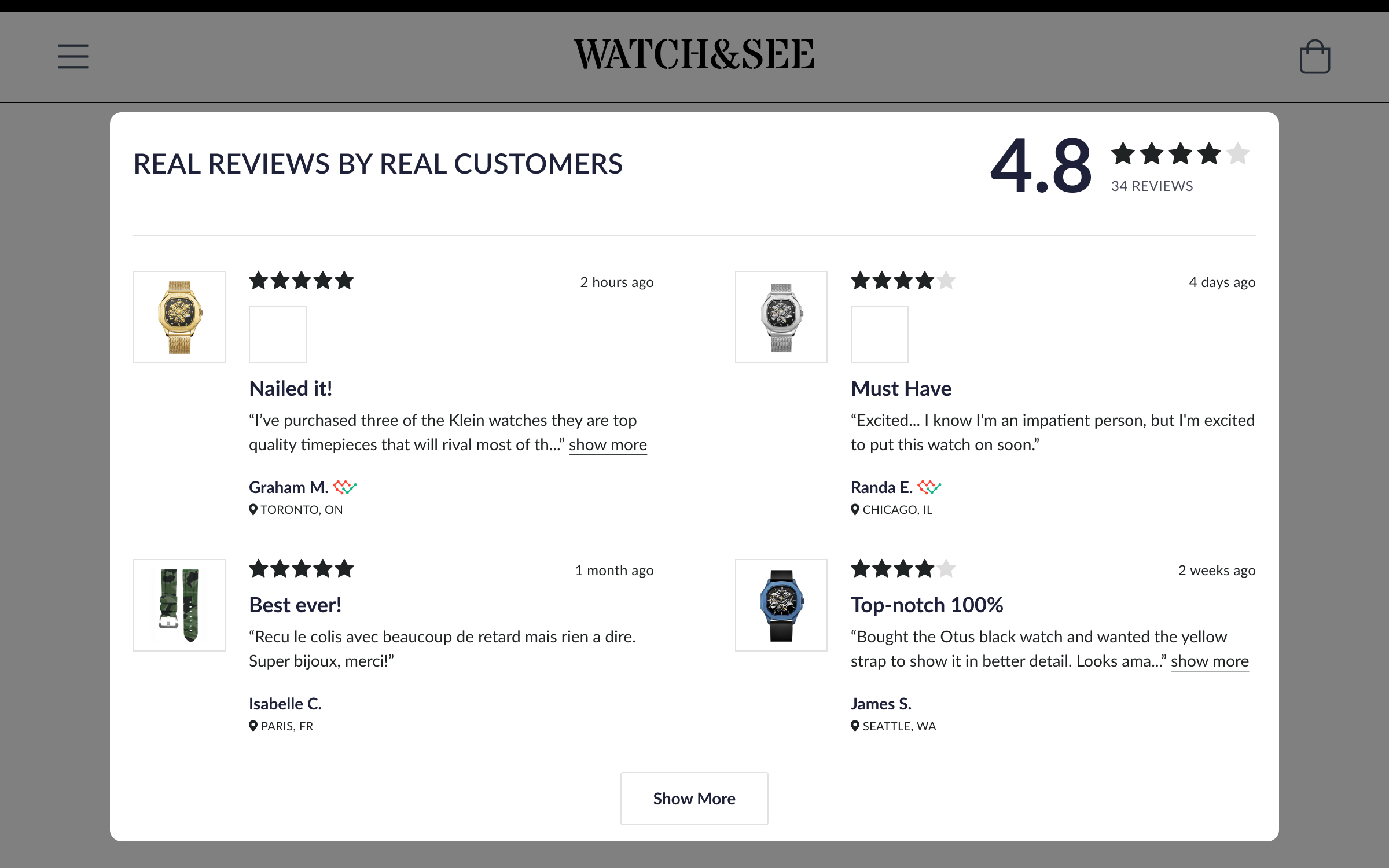 product reviews ecommerce